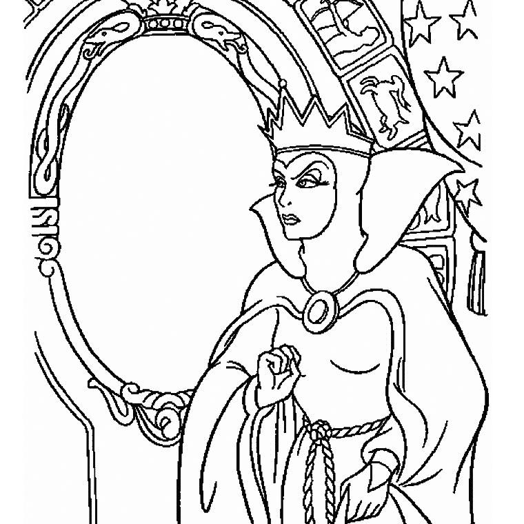 dessin à colorier princesse blanche neige