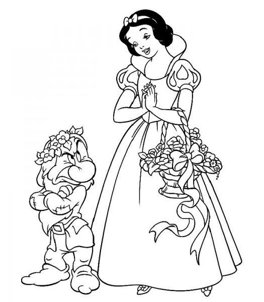 dessin princesse blanche neige a imprimer