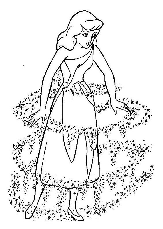 coloriage � dessiner princesse cendrillon disney