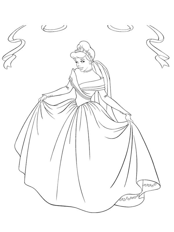 dessin à colorier princesse cendrillon