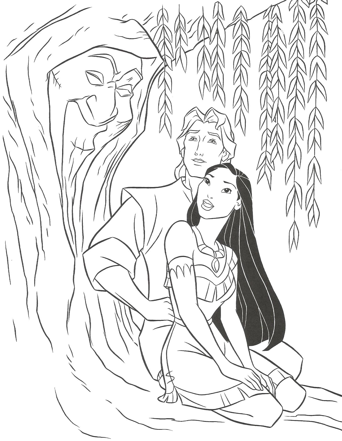 19 dessins de coloriage princesse disney pocahontas imprimer - Dessiner princesse disney ...