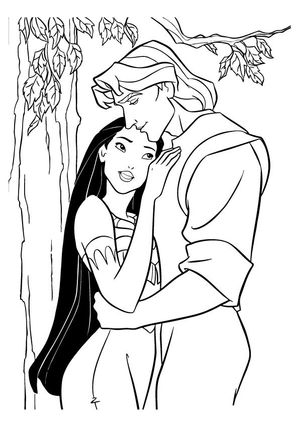 19 Dessins De Coloriage Princesse Disney Pocahontas A Imprimer