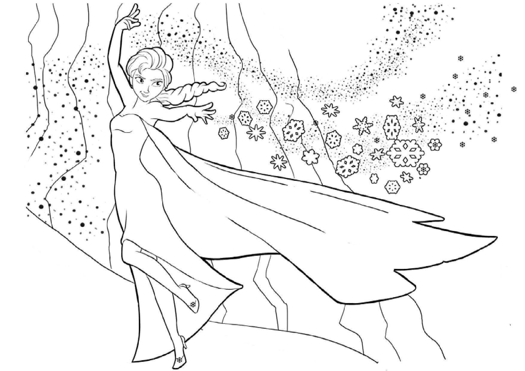 coloriage à imprimer princesse elsa
