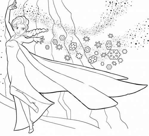 coloriage à dessiner à imprimer princesse elsa