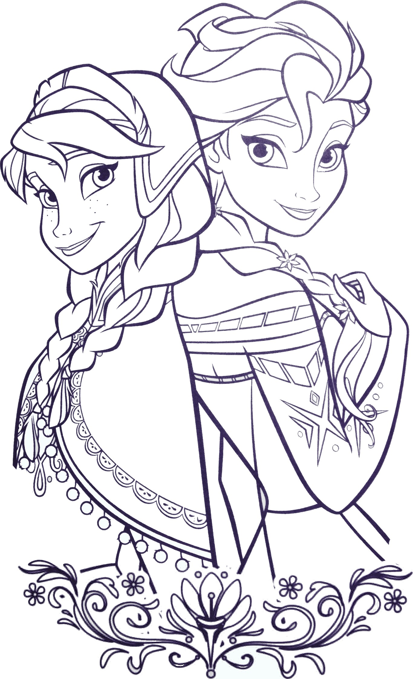 Coloriage princesse elsa - Dessins reine des neiges ...