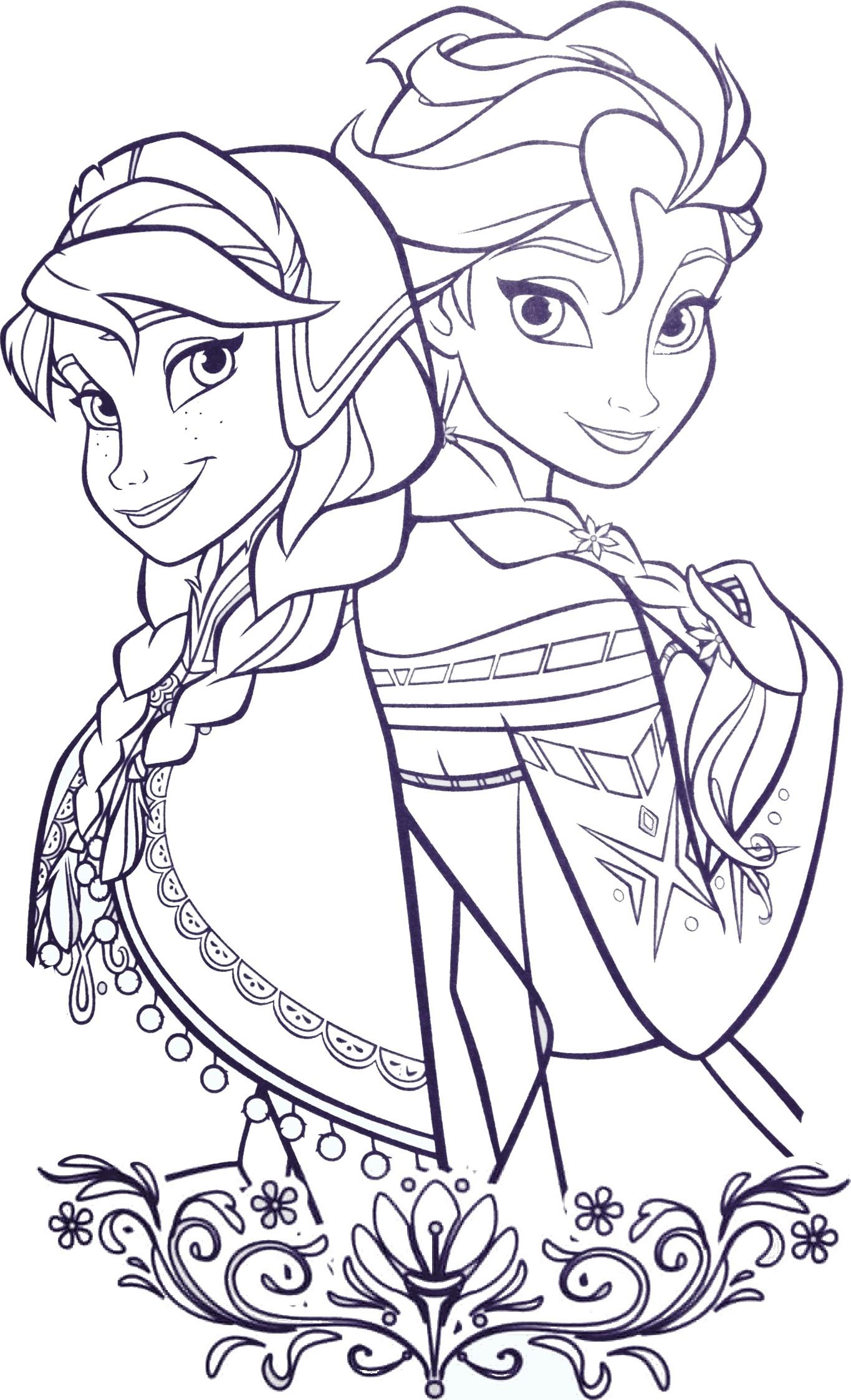 coloriage princesse elsa