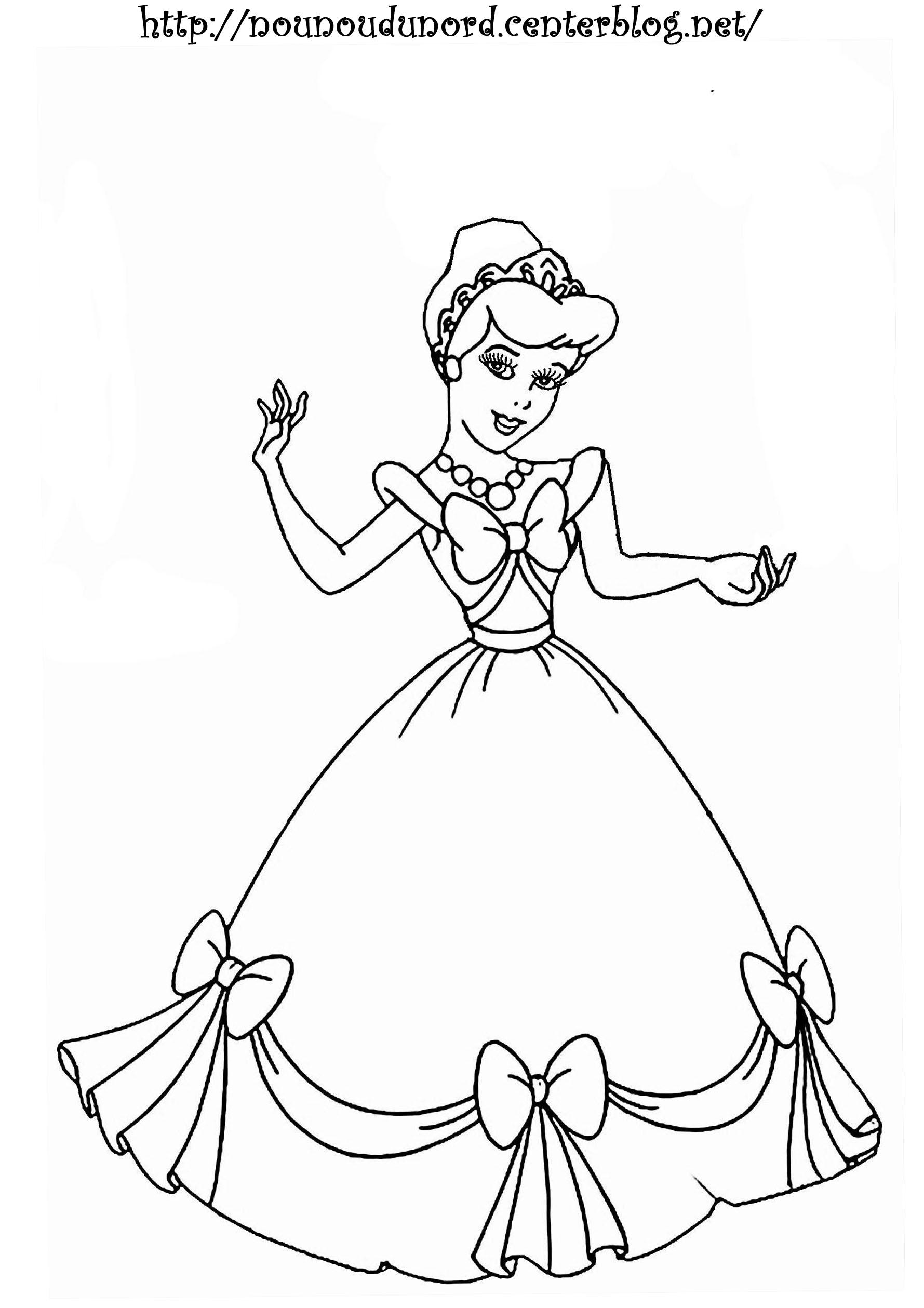 voir le dessin - Coloriage De Princesse En Ligne