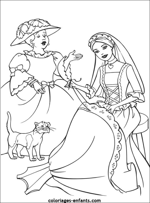 coloriage à dessiner de princesse fiona