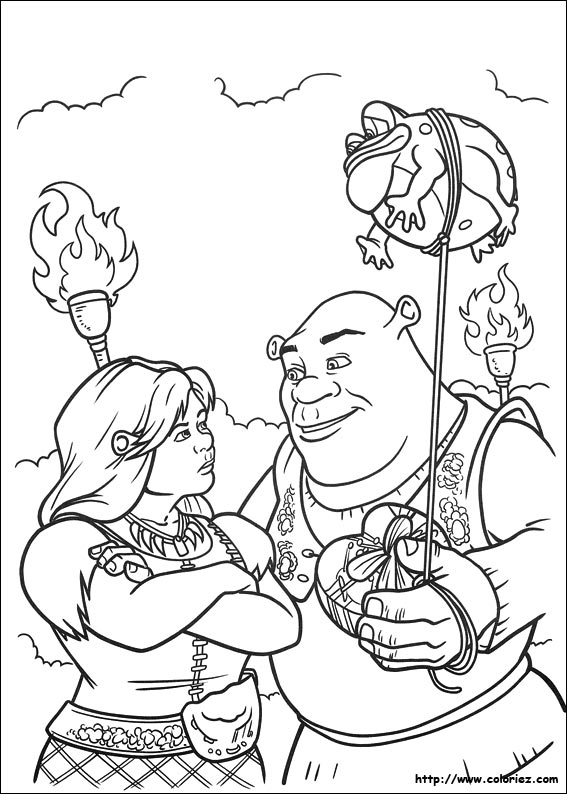 dessin à colorier princesse fiona imprimer