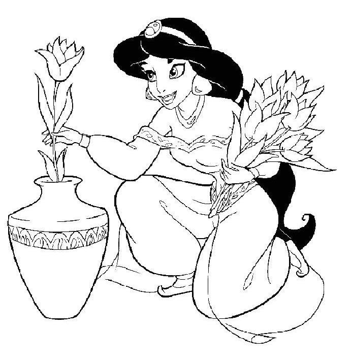 dessin princesse jasmine et aladdin