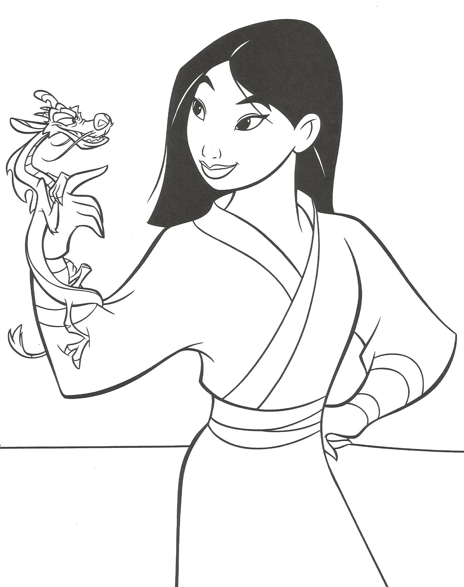 dessin de princesse mulan