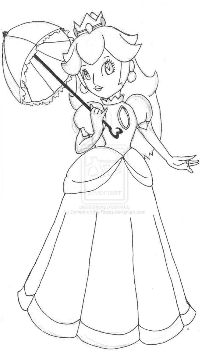 dessin princesse peach imprimer