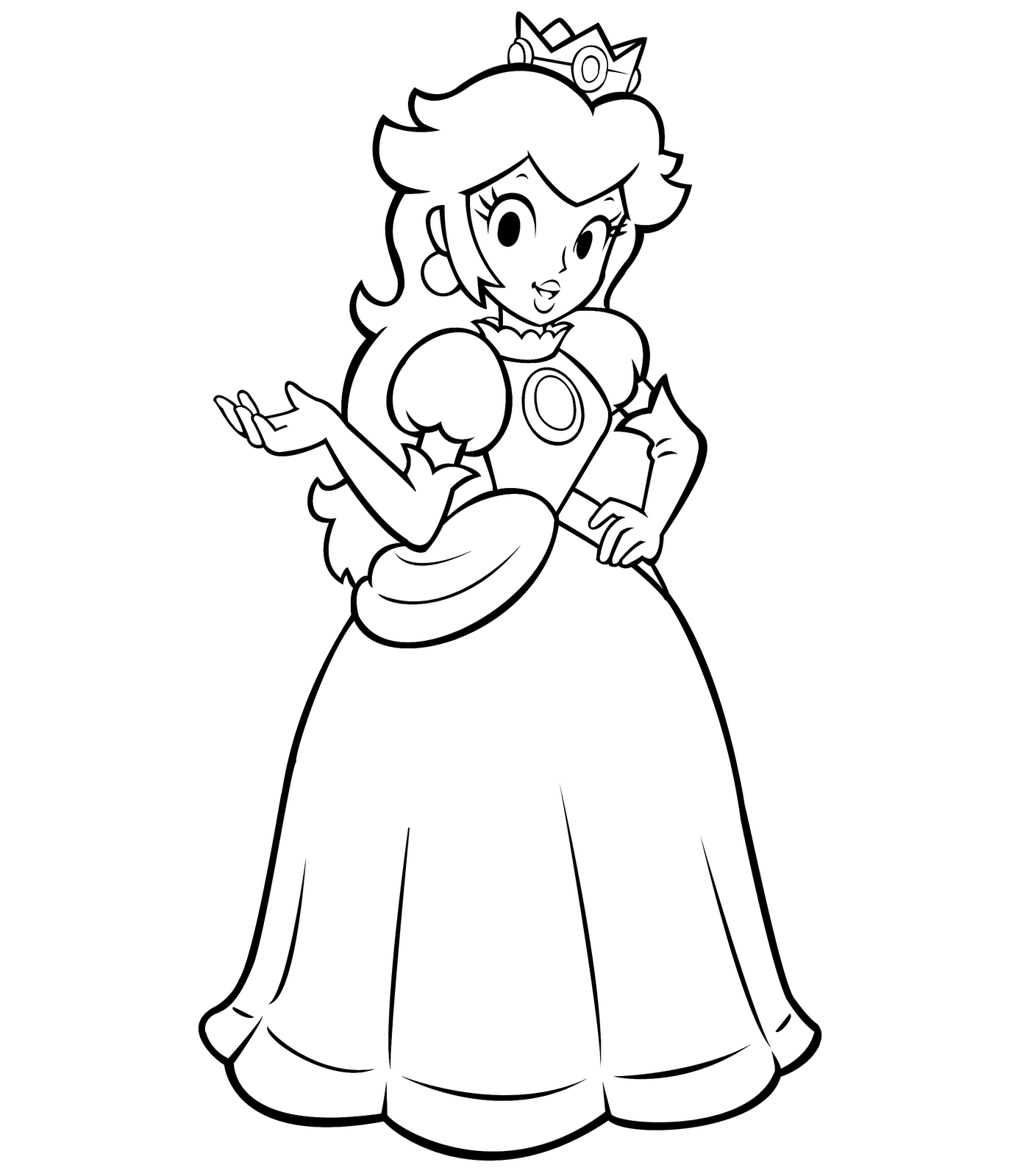 Dessin colorier princesse peach imprimer - Comment dessiner peach ...