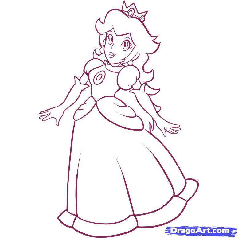 coloriage princesse peach en ligne
