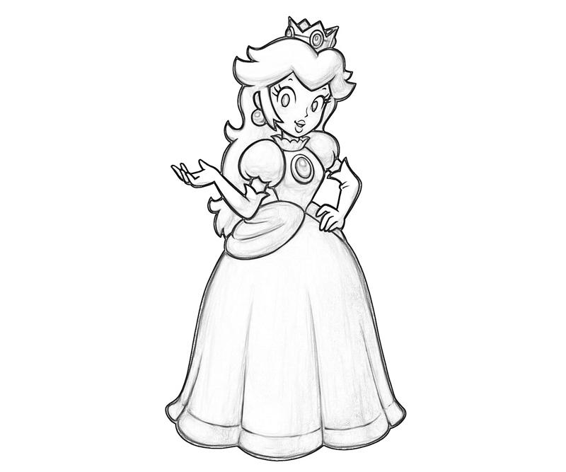 16 dessins de coloriage princesse peach imprimer - Comment dessiner peach ...