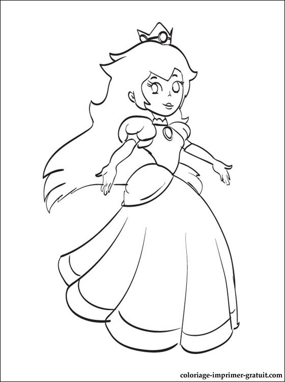 14 dessins de coloriage princesse peach imprimer