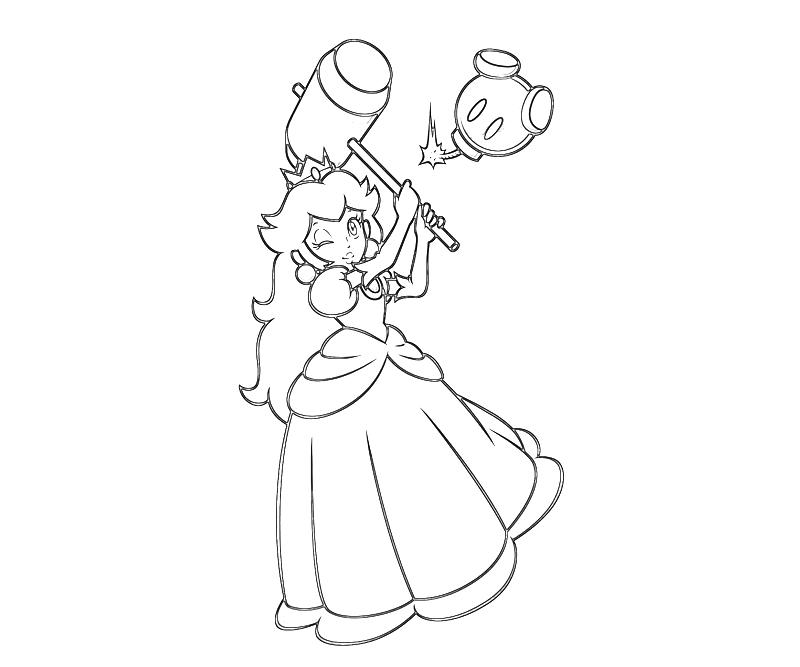jeux de coloriage princesse peach