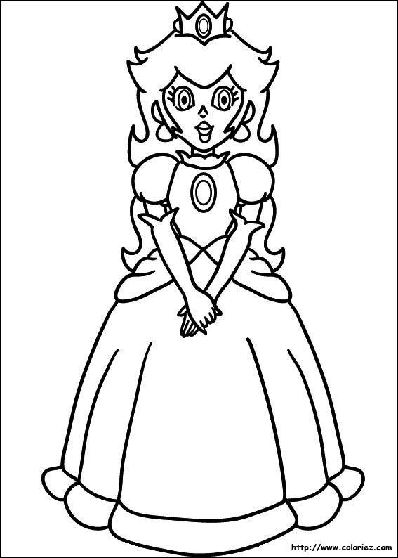 jeux de dessin à colorier princesse peach