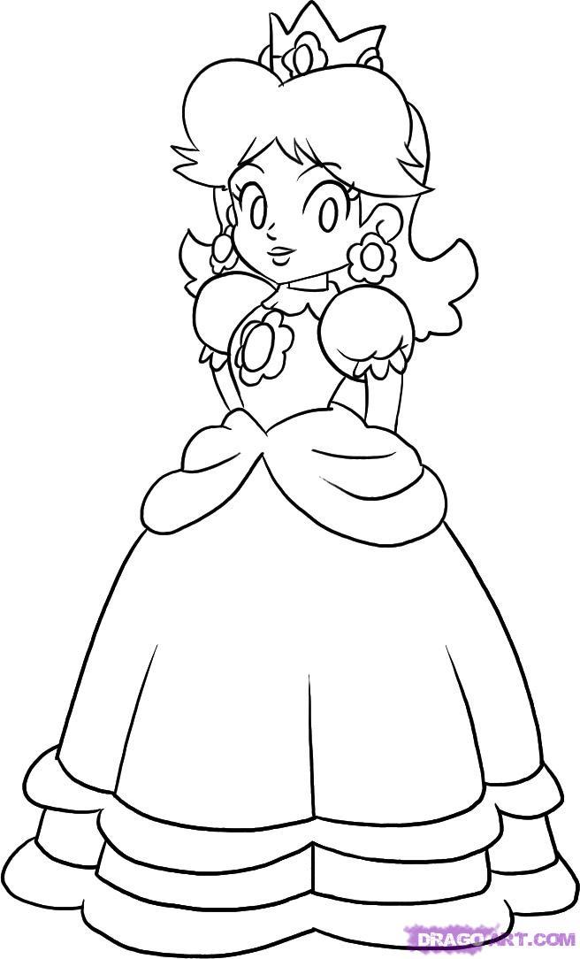 16 dessins de coloriage Princesse Peach à imprimer
