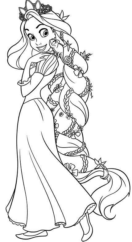 dessin princesse raiponce à imprimer