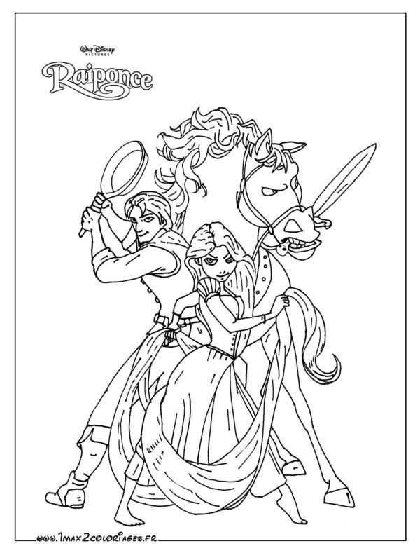 dessin gratuit princesse raiponce