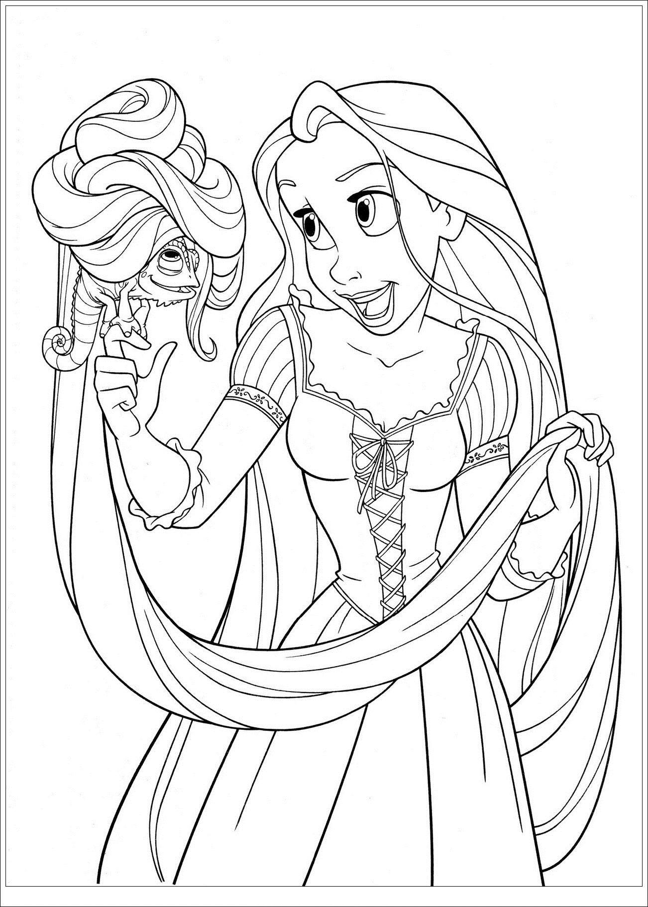 20 dessins de coloriage Princesse Raiponce à imprimer