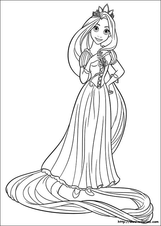 coloriage à dessiner gratuit princesse raiponce