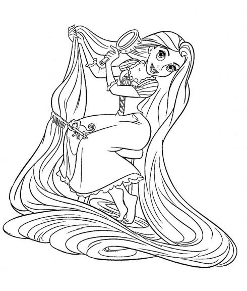 coloriage princesse raiponce à imprimer