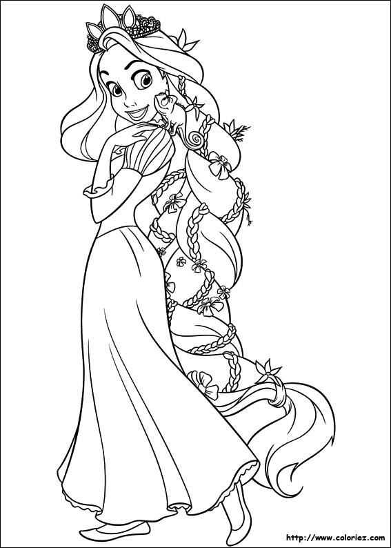 imprimer coloriage à dessiner princesse raiponce