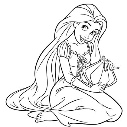 coloriage princesse raiponce barbie
