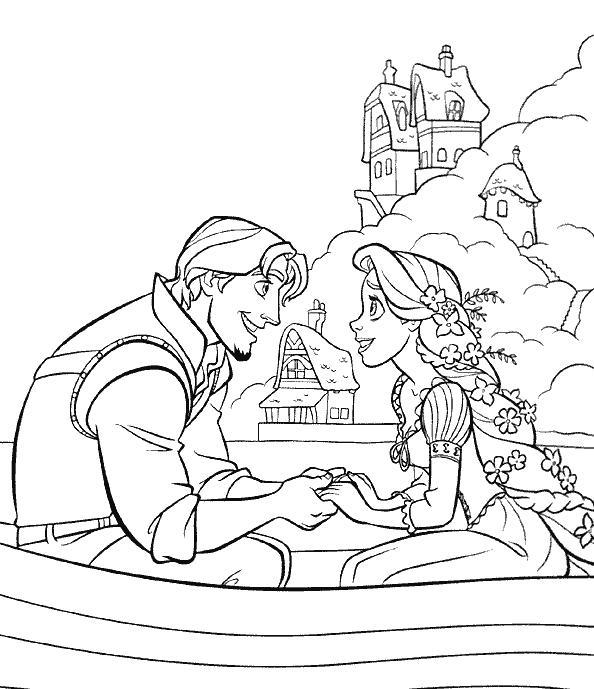 coloriage princesse raiponce colorier