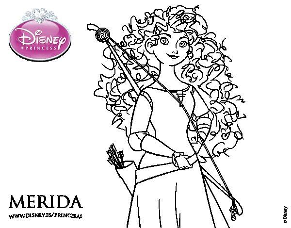 dessin à colorier gratuit à imprimer princesse rebelle
