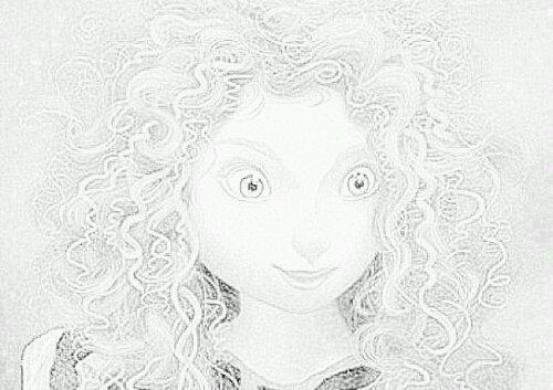 dessin princesse disney rebelle