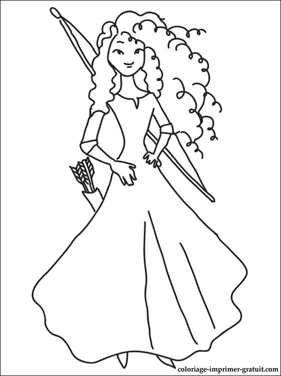 coloriage de la princesse rebelle