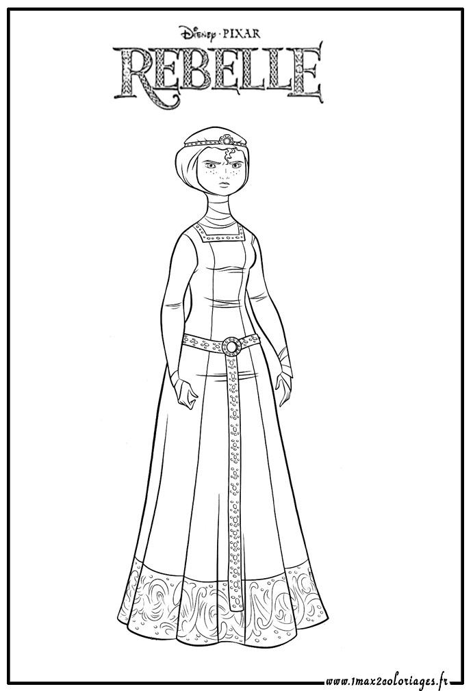 coloriage à dessiner gratuit à imprimer princesse rebelle