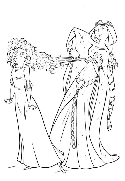 coloriage princesse disney rebelle