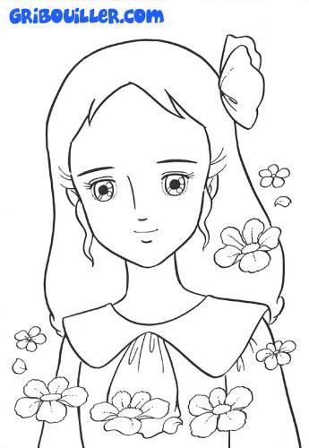 dessin à colorier de princesse sarah a imprimer