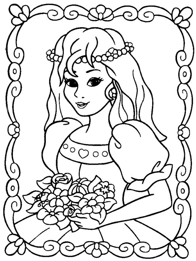 coloriage princesse sarah gratuit