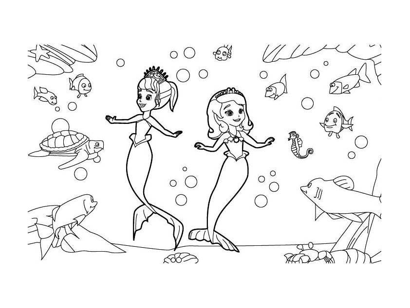 19 dessins de coloriage princesse sofia imprimer imprimer - Princesse sofia et ariel ...