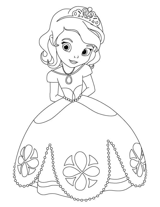 23 dessins de coloriage princesse sofia imprimer - Princesse dessin facile ...