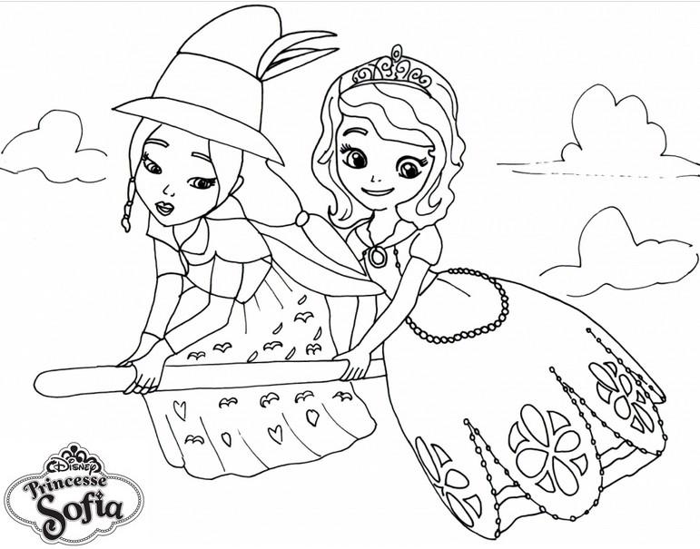 coloriage a colorier princesse sofia