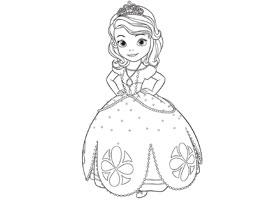 coloriage clovis princesse sofia