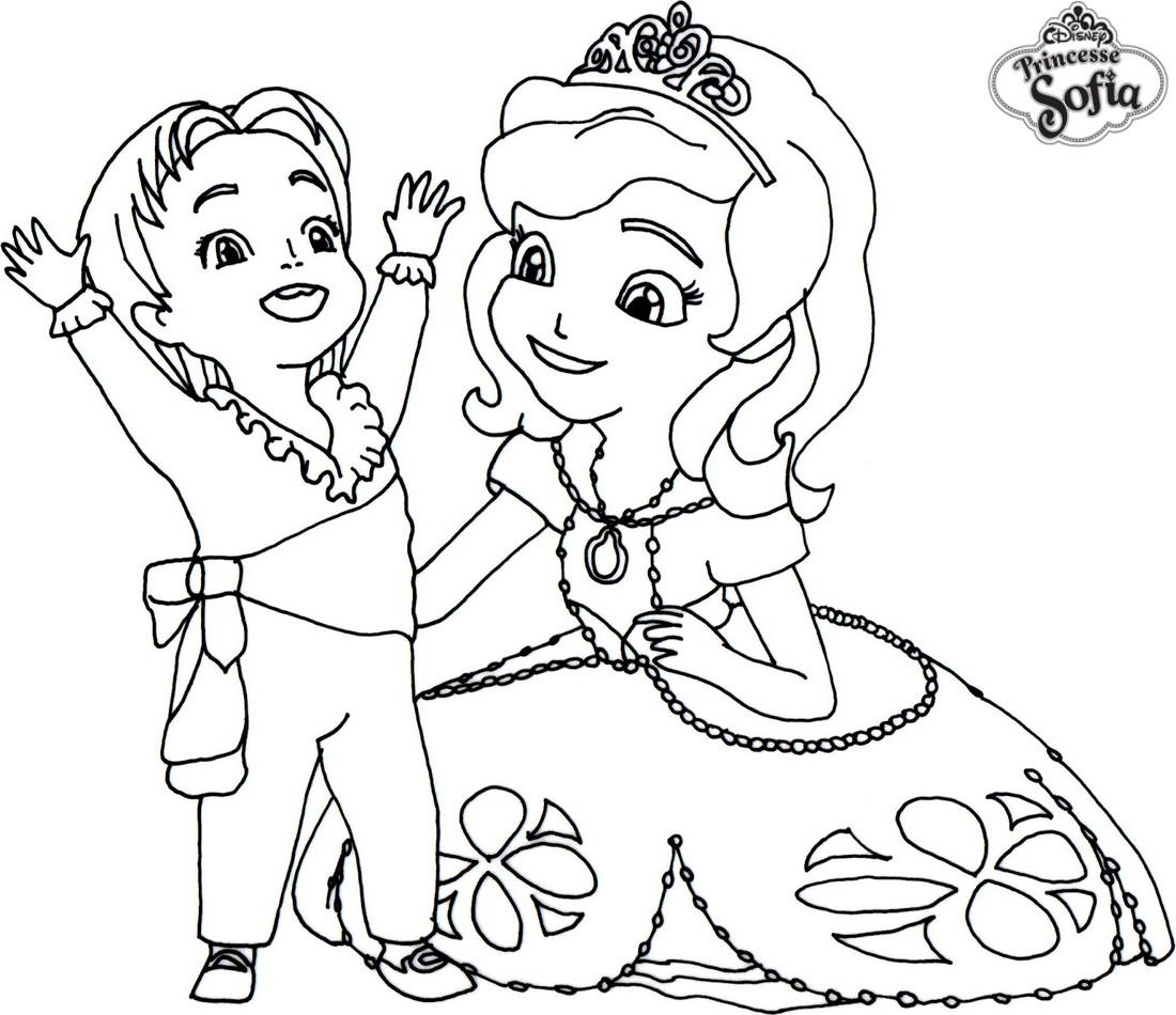 Jeux de dessin princesse sofia - Princesse a colorier ...