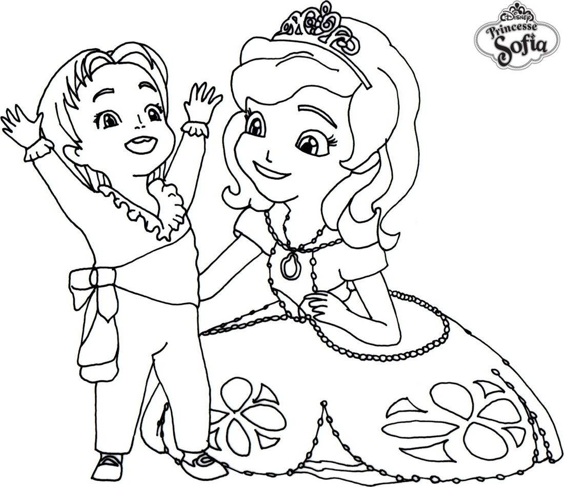 Coloriage de princesse sofia gratuit en ligne - Princesse dessin ...