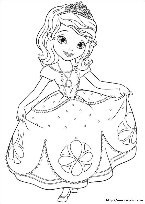 Coloriage de princesse sofia gratuit en ligne - Coloriage en ligne princesse ...