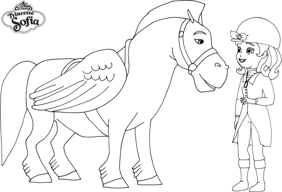 coloriage à dessiner princesse sofia au royaume des sirenes