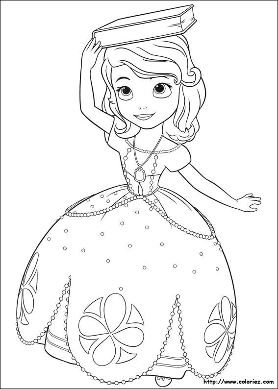Livre Coloriage A Dessiner Princesse Sofia
