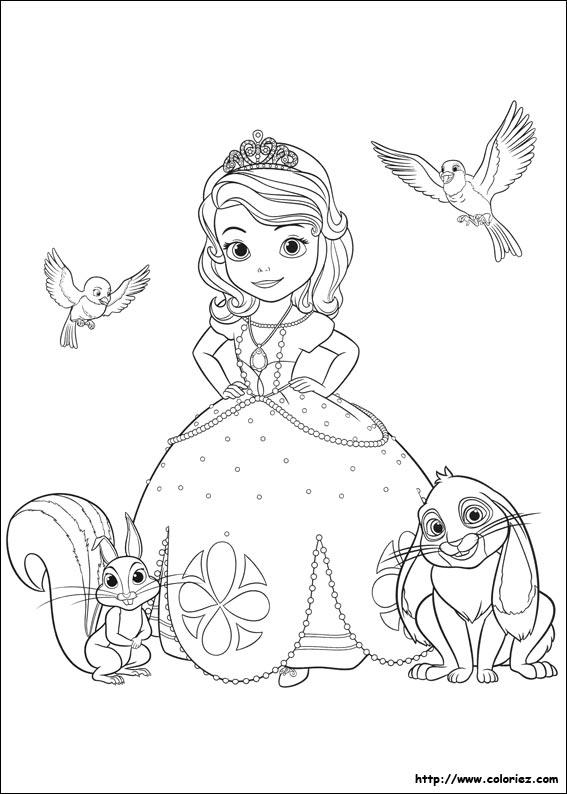 dessin à imprimer princesse sofia gratuit