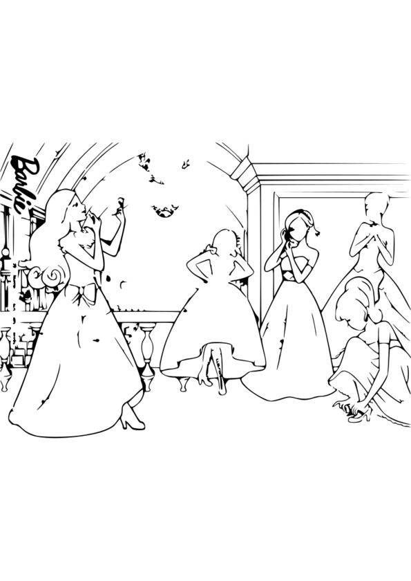 Coloriage princesse pdf - Coloriages princesse ...