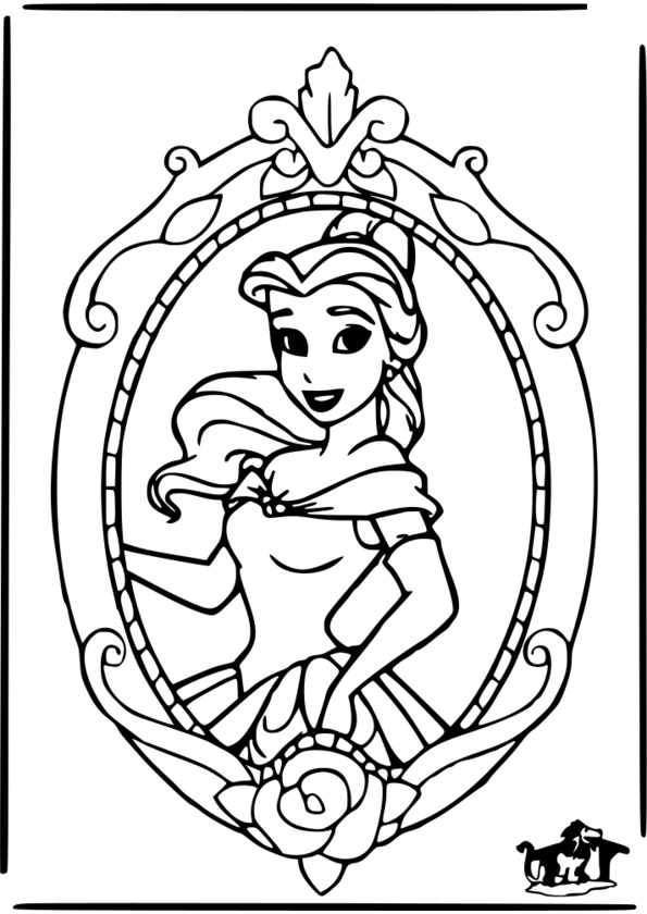 coloriage princesse maternelle